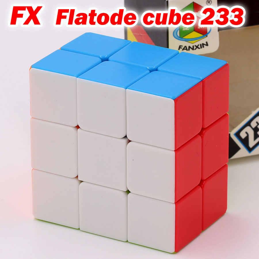 Quebra-cabeça cubos mágicos fanxin cube 2x3x3 233 3x3x2 forma estranha velocidade profissional cubos brinquedos educativos jogo quebra-cabeças cubo rubix