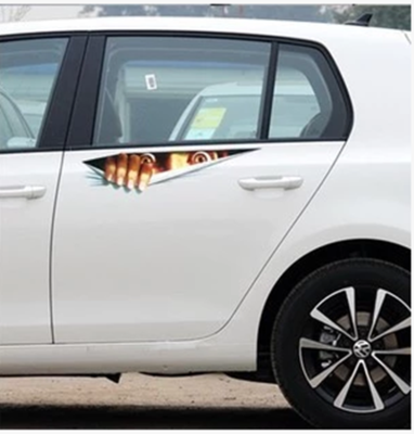 New Lifelike D Eyes Peeking Monster Waterproof Fashion - Window decals for vehicles personalized