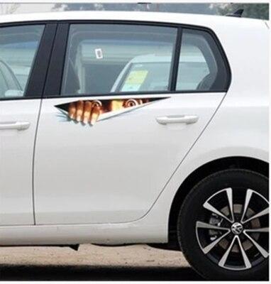 New Lifelike 3D Eyes Peeking Monster Waterproof Fashion Personalized Car Sticker Car Styling Rear Window Decal hot selling