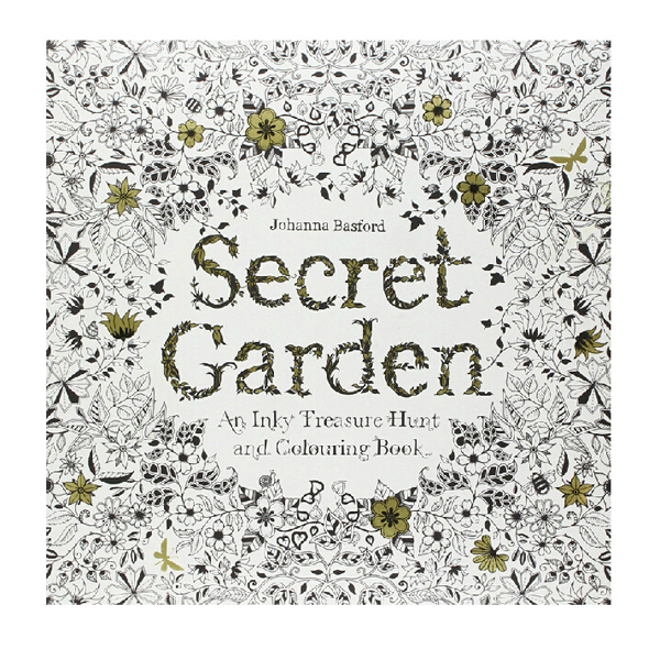 Gift For Both Adult And Kids Secret Garden Coloring Book Relieve Stress Kill Time Painting Drawing With 24pcs Pencils