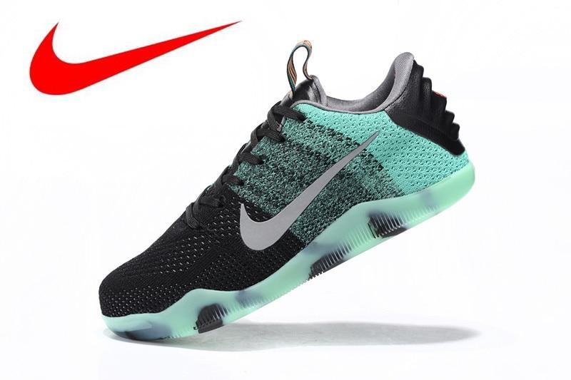 6218ee8f26 Original Nike Kobe 11 Elite Low Green fluorescen Men's Basketball Shoes, Men's outdoor Comfort Sports Shoes breathable 822521-305