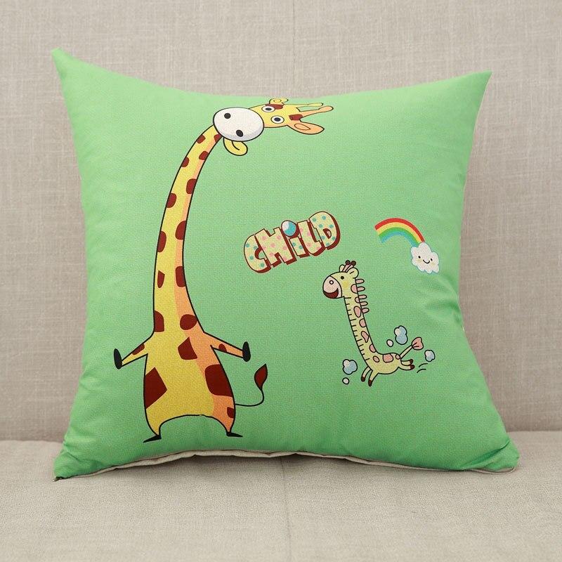 YWZN милый мультяшный чехол для подушки с котом, креативный чехол для подушки с изображением жирафа, декоративный чехол для подушки со слоном, funda cojin kussenhoes - Цвет: 2