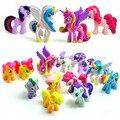 12 Шт./лот Очень милые Маленькие Лошади Виниловые Куклы Pet Shop Аниме Рис. набор верховая Пвх Фигурки Гараж Комплект модель baby дети подарок
