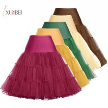 Vintage Bridal Wedding Petticoat Crinoline Rockabilly Tutu Underskirt Short Tulle Skirt Accessories Jupon Mariage