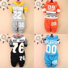 Wwinter Children's Clothing sets for boy clothes thick warm Hoodie+pant plus velvet kids clothes sport suit baby boy clothes