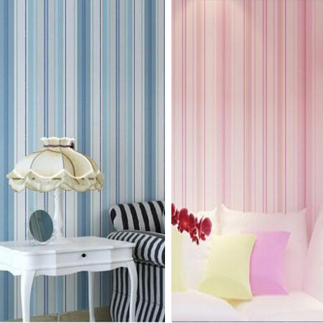 Boys girls wallpaper roll blue/pink non-woven wall paper kids wallpaper classic stripe wall paper child for living room W206 boys girls wallpaper roll blue pink non woven wall paper kids wallpaper classic stripe wall paper child for living room w206