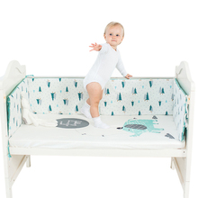 Nordic Design Baby Bed Thicken Bumpers Crib Around Cushion Cot Protector Cushions 4Colors Newborns Room decor