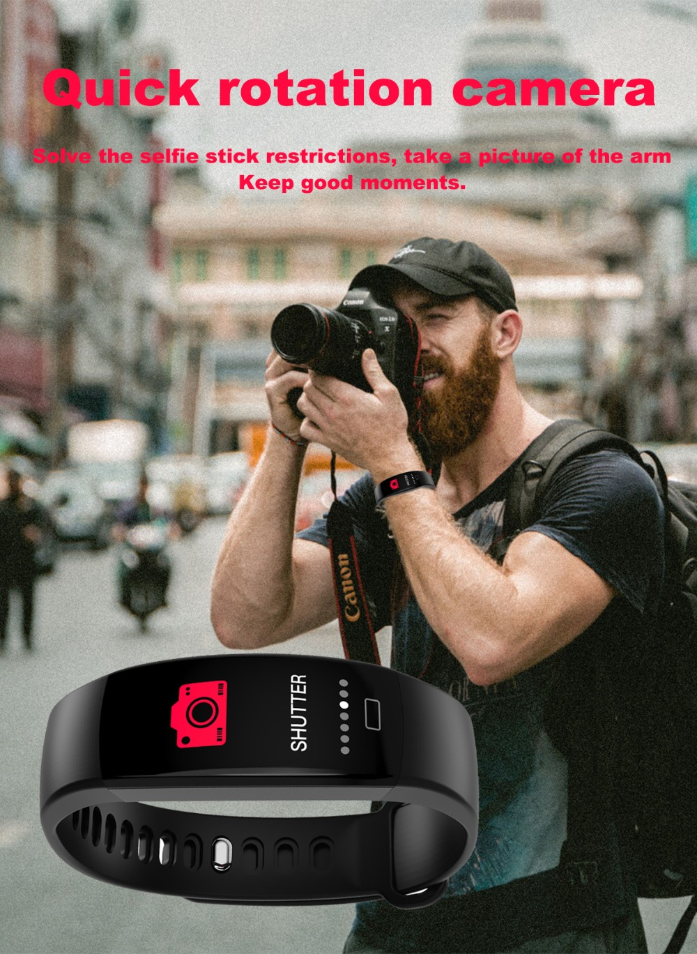 Torntisc F64HR Heart rate smart bracelet IP68 Waterproof Color screen Blood pressure oxygen Fitness tracker Smart band GPS watch (9)