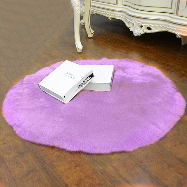 Purple Soft Artificial Sheepskin Rug Chair Cover Artificial Wool Warm Hairy Carpet Seat 30x30CM Modern Style Home Decoration In Carpet From Home