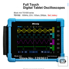 цена на Digital Tablet Oscilloscope 100MHz 2CH 1G Sa/s Real Time Sampling Rate Protable Oscilloscope Automotive Oscilloscopes Kit TO1102