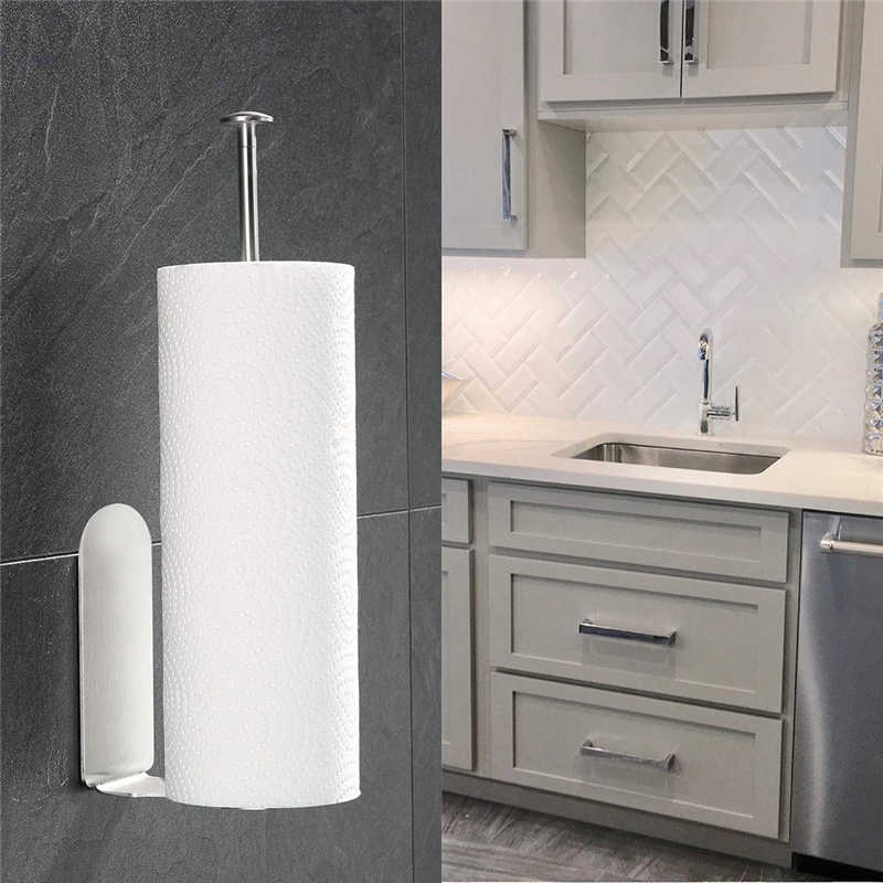 Image 2 - Creative High Quality Paper Towel  Storage Rack Vertical Diversified Holder Wall Mount Paper Holder Storage Rack-in Storage Holders & Racks from Home & Garden