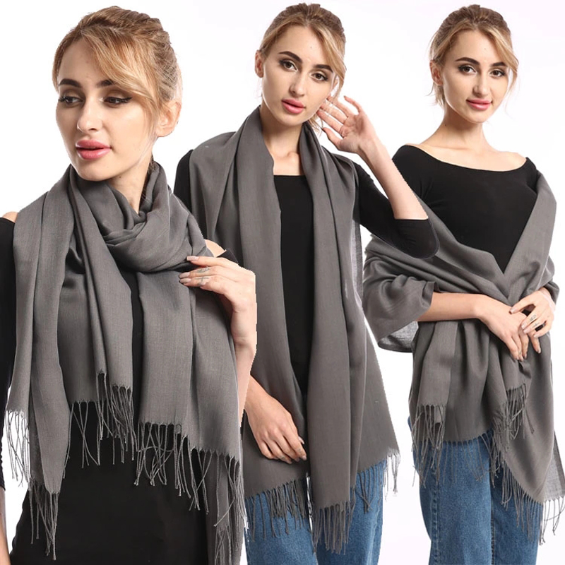 2019 Fashion Summer Women   Scarf   shawls and   wraps   Thin Solid Female Stole Hijab Long Cashmere Pashmina foulard Lady Head   Scarves