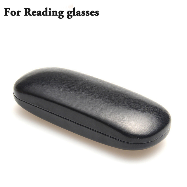 Hot Leather Glasses Case For men Waterproof Hard Frame Eyeglass Case Women Reading Glasses Box Black Spectacle Cases