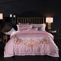 4 Pcs Bedding Set 80S Long Staple Cotton Luxury Bed Linen Palace Duvet Cover Pillowcases Bedspread Queen King Size