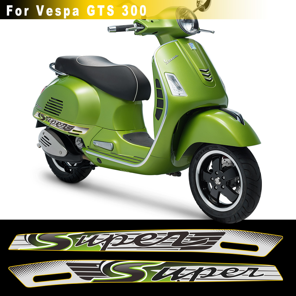 Gray Green Fit For PIAGGIO VESPA GTS SUPER 300 GTS300 Sport Decal Stickers Emblem Reflective Stickers Motorcycle Body Shell