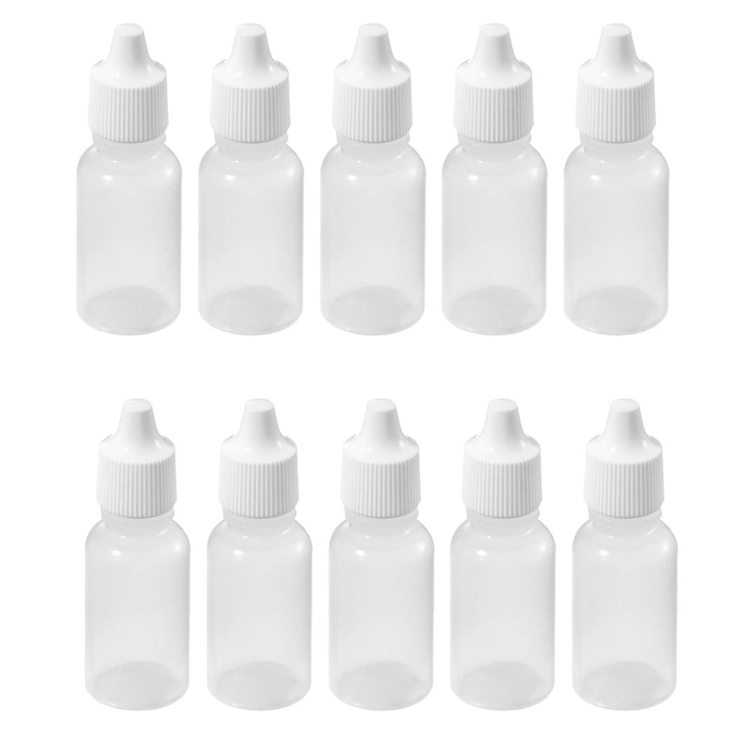 10 Pcs 10 ML 1 3 OZ LDPE Plastic Childproof Dropper Bottles Oil Lotion Refillable Bottle