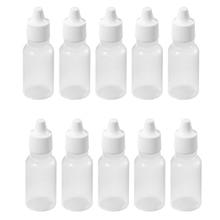 10Pcs 10 ML 1/3 OZ  Plastic Childproof Dropper Bottles Oil Lotion Refillable Bottle