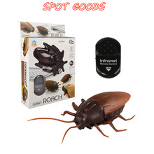 Infrared Remote Control Cockroach Mock Realistic Fake RC Toy Prank Insects Joke Scary Trick Bugs for