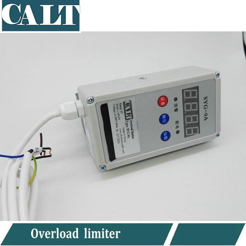 SYG-0A 380V AC faisceau unique levage poids cellule de charge 3 5 T tonne limiteur électrique palan limiteur de surcharge alarme