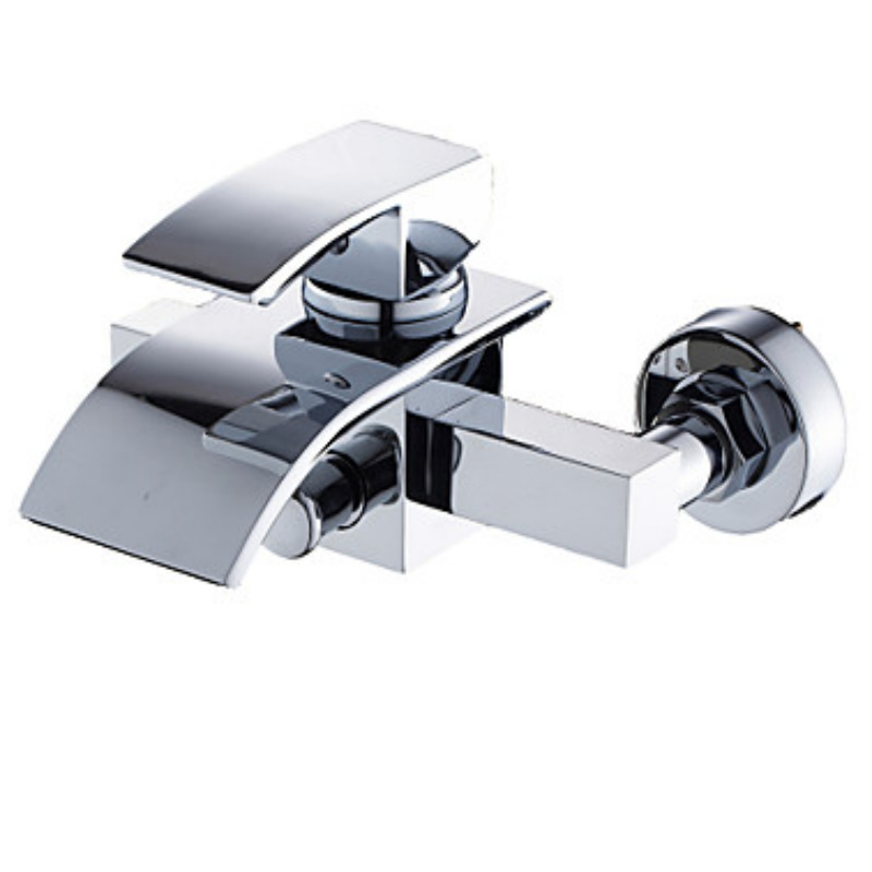 Copper bathroom shower faucet concealed triple bathtub faucet hot and cold shower mixing valve shower