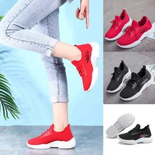 Women's Ladies Casual Anti-Slip Sport Walking Sneakers Loafers Soft Shoes basket femme sneakers women shoes woman sneakers high(China)