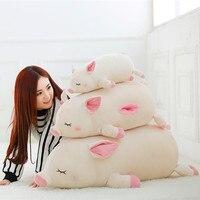 1 Cái kích thước Lớn đồ chơi 45-80 cm con lợn Màu Be đồ chơi sang trọng fat pig gối Xuống bông đệm mềm Trung Quốc lợn hoàng đạo doll Kid sinh nhật quà tặng