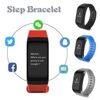 F1 Smart Bracelet Oximeter Blood Pressure Heart Rate Mileage Calorie Sleep Monitor Reminder SMS Call Pedometer