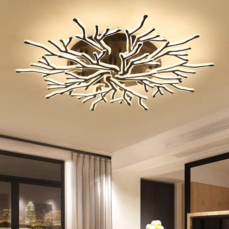 Iralan Led Ceiling Light Modern Nature Rose Design Living Room Bedroom Kitchen Dining Room Lighting Fixture Icfw1909 Lights & Lighting