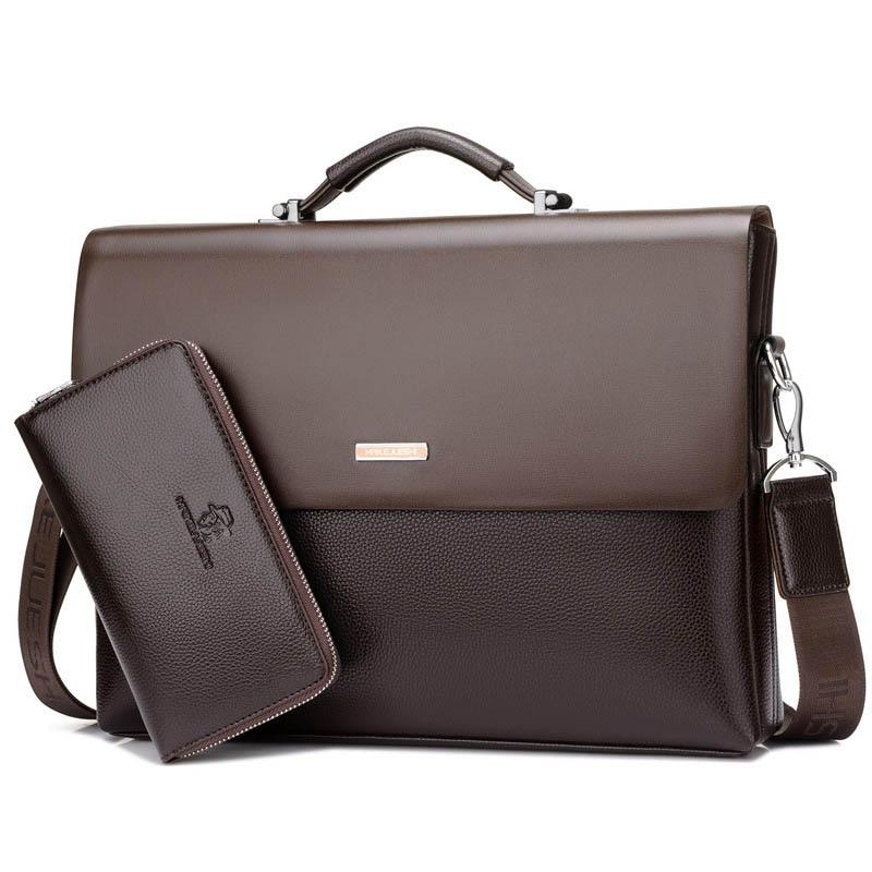 Fashion Men Handbag Men Bag High Quality Briefcase Men Business Bag Designer Brand Male Shoulder Messenger Bag Vintage Briefcase все цены
