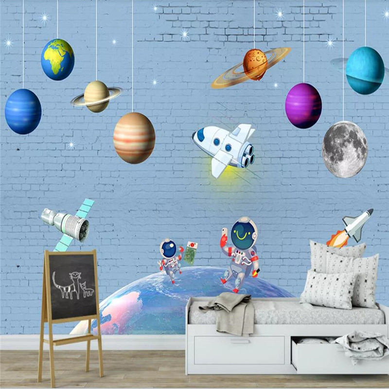 Custom Wallpaper Fashion Pirate Ship Treasure Hunt Children Bedroom Wall Decoration Waterproof Material