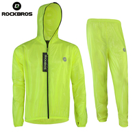 ROCKBROS Waterproof Cycling Sets Raincoat Breathable MTB Riding Motocross Bike Jersey Anti Sweat Bicycle Men Cycling