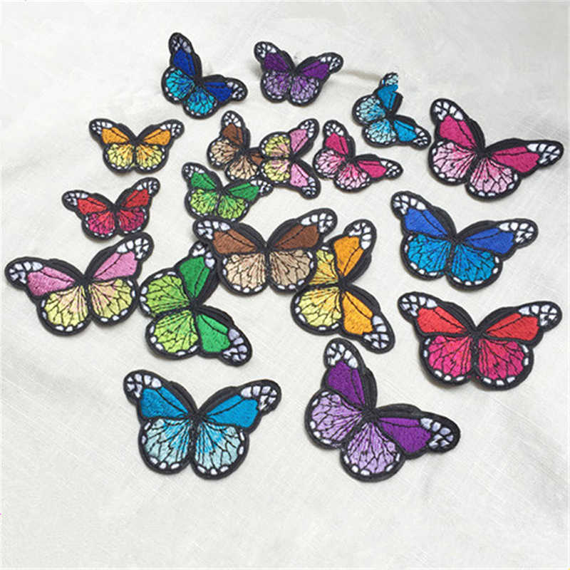 10PCs Butterfly Patches For Clothing Iron On Embroidered Appliques DIY Apparel Accessories Patches For Clothing Fabric Badges