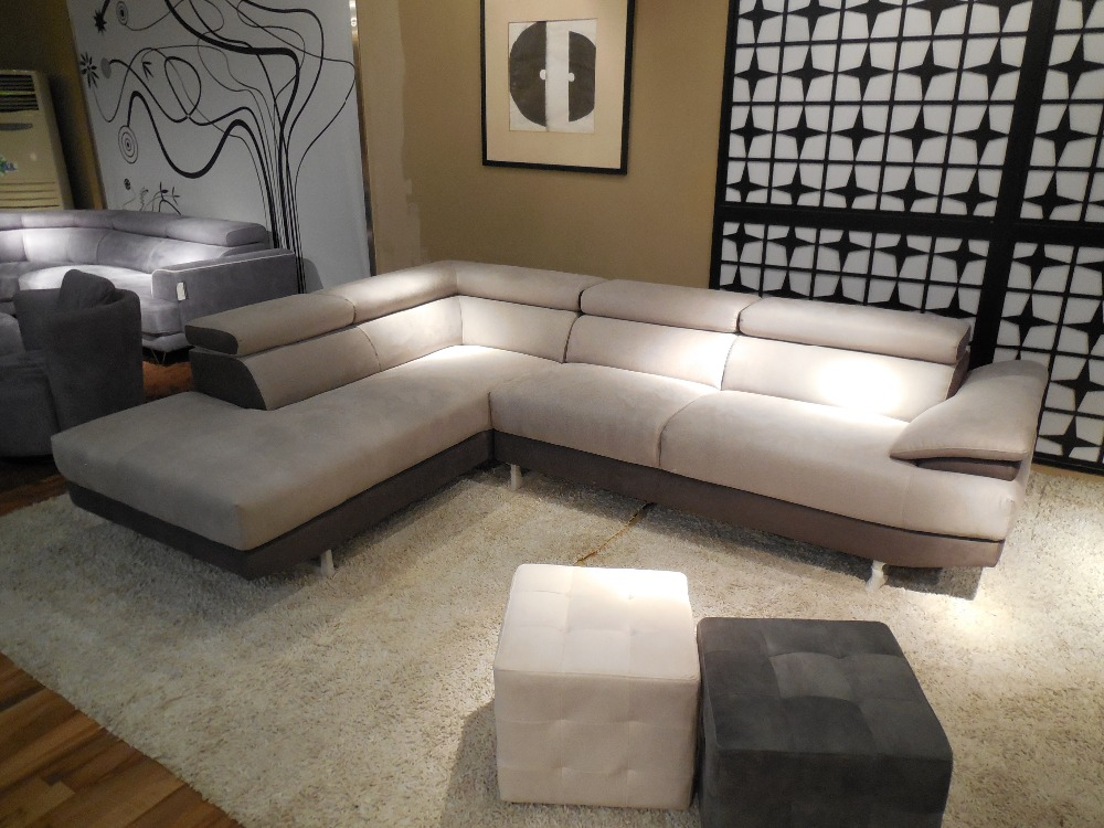 Canapé d\'angle de meubles de salon moderne en tissu de haute ...