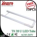 free shipping 2ft u shaped led tube light, 18W 600mm u led tube, AC85-277V
