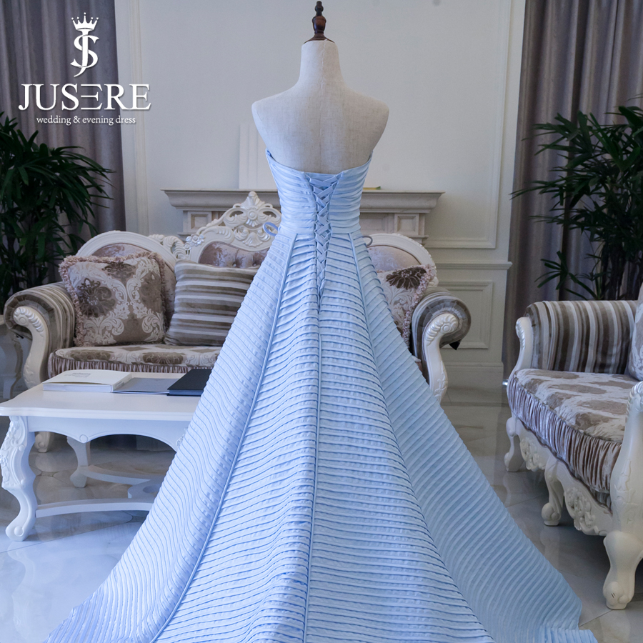 Haute Couture Light Blue Evening Dress 2016 Strapless Neckline ...