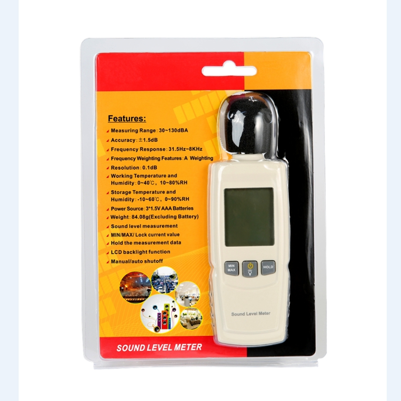 Analytisch 30-130db Digital Sound Level Meter Tragbare Lärm Tester Dezibel Meter Genauigkeit Noise Level Messung Mit Lcd Display Backlit