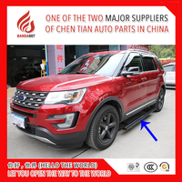 High quality aluminium alloy Automatic scaling Electric pedal side step running board for Explorer 2013 2014 2015 2016 2017