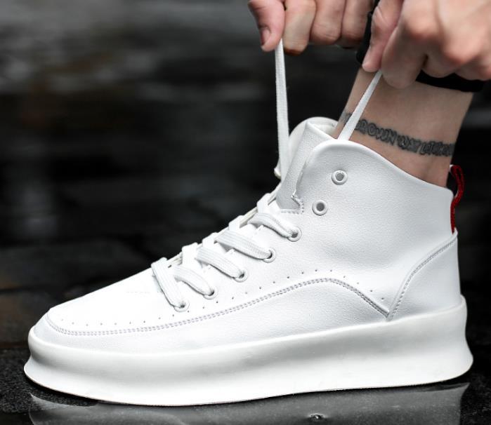 cinza De Preto Alta Sapatos branco Da Homens Versão Brancos Dos Coreana vermelho Tendência top Planas wq7xH1F