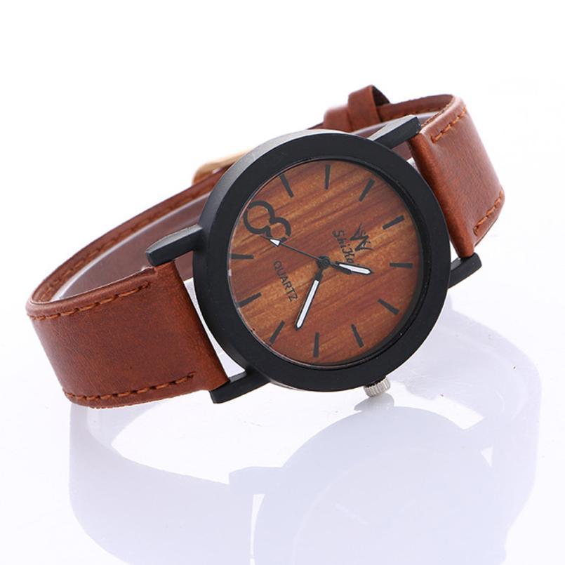 Relojes Feminio watches womens bracelet Watch new Neutral Simple fashion dress ladies Leather Quartz WristWatch 2017 hot sale