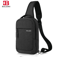 BALANG Casual Men S Chest Pack Men Travel Canvas Bags Business Male Messenger Bags Fashion Shoulder