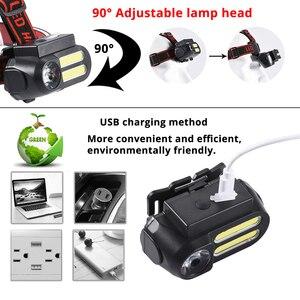Image 5 - Super Bright LED Headlamp COB Work Light 4 Lighting Mode Waterproof Headlight Powered By 18650 Battery suit for Night Lighting