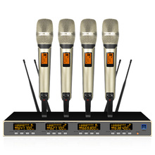 One for four wireless microphone U segment stage performance lava clip home handheld headset conference