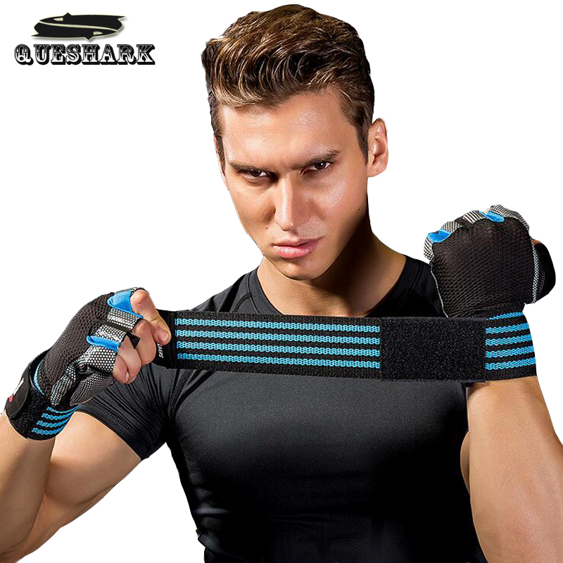 Men Women Dumbbell Weight Lifting Gloves Gym Half Finger Fitness Wrist Wrap Sport Gloves Fingerless Cycling Gloves Protect Wrist
