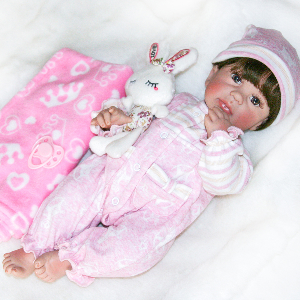 Adorable Water Washable Full Body Silicone Reborn Baby Alive Girl Doll Toys for Children Girls Christmas Birthday Gift Dolls Toy
