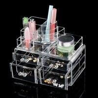 Meistverkaufte Acryl Make-up-aufbewahrungsbox Klare Kosmetische Brust Kleinigkeiten Organizer Große Make Schublade Box