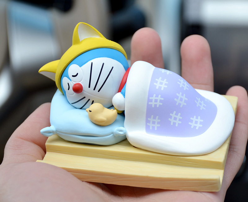 5cm Japanese anime figure cute kawaii sleeping doraemon action figure collectible model toys for girls