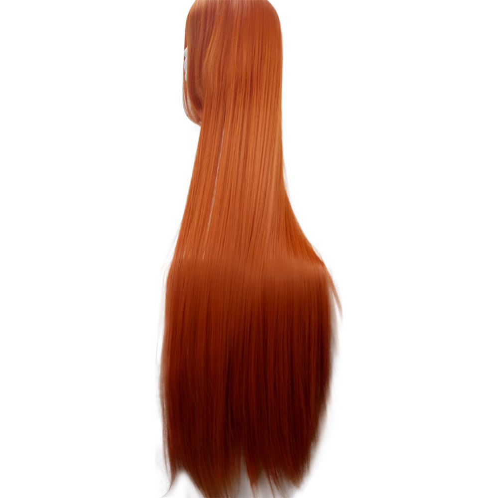 HAIRJOY Orange Green Costume Party Cosplay Wig 100cm Long Straight  Synthetic Hair  Wigs 15 Colors Available Free Shipping 2