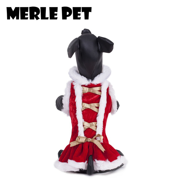 merle pet christmas costume skirt cute dog sweaters coat warm winter soft puppy clothes chihuahua small - Large Dog Christmas Sweaters