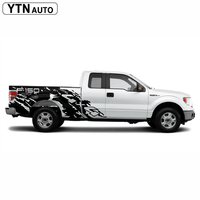 car decals 2pcs pickup car body stickers trunk tail box bed vinyl 4x4 off road mud car sticker custom for Ford F150 2006 2019