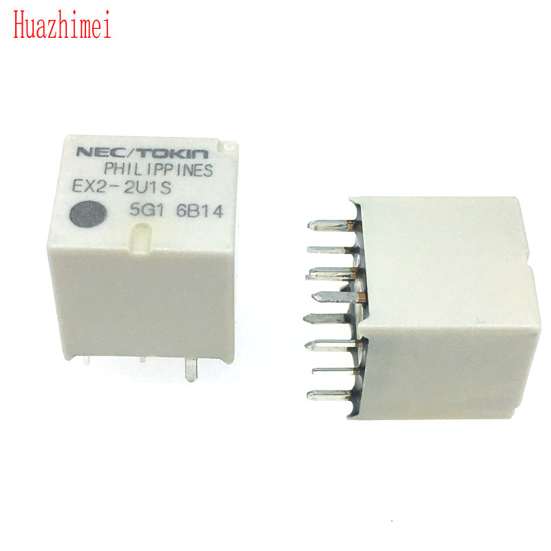 5PCS-10PCS/LOT NEW EX2-2U1S EX2 DIP Relay 12V 10pcs lot pc817 4 dip 16 optical coupler oc optocoupler
